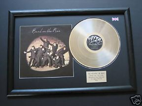 PAUL McCARTNEY & WINGS - Band On The Run PLATINUM LP & Cover Presentation Disc
